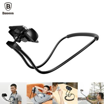 Lightweight Lazy Neck or Waist Mobile Phone and Tablet Holder With 360 Degree Flexibility