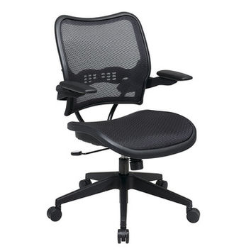 Space Seating 13 Series Deluxe AirGrid Seat & Back Chair w/ Cantilever Arms