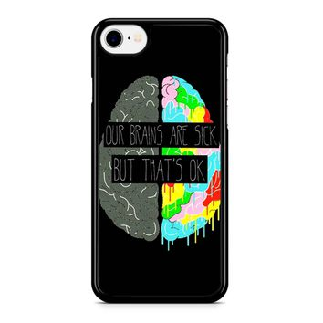 Fake You Out Twenty One Pilots Brains Iphone 8 Case