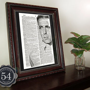 HUMPHREY BOGART PHOTO Vintage Dictionary Art Print Upcycled Book Art Celebrity Home Decor Hollywood Wall Decor The Maltese Falcon Casablanca