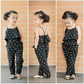 EMS DHL Free Girls Children's Heart Ruffles Jumper with Waistband Halter Chiffon Summer Style One Piece Suit