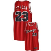 Nike Chicago Bulls #23 Michael Jordan Red Rookie Swingman Jersey