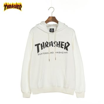 THRASHER Tide brand couple loose loose hooded hoodie White