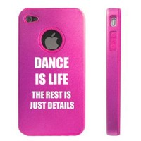 Apple iPhone 4 4S Hot Pink D6146 Aluminum & Silicone Case Cover Dance is Life