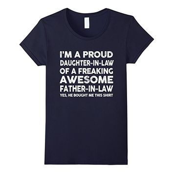 Proud Daughter In Law Of Awesome Father In Law T-Shirt