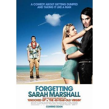Forgetting Sarah Marshall Movie poster Metal Sign Wall Art 8in x 12in