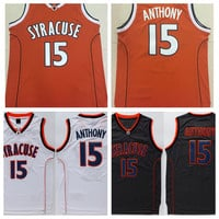 College Basketball Jersey 15 Camerlo Anthony Jersey Shirt 2016 Syracuse Orange Uniforms Fashion Rev 30 New Material Black Orange White Sale