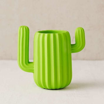 Mustard Gifts Cactus Cup Desk Organizer | Urban Outfitters