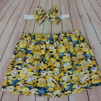 Minions Bow & Skirt Set