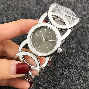 CK Watch man women  fashion Watch F-Fushida-8899 Silver - gray black face