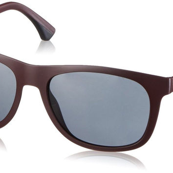Emporio Armani EA 4034 Men's Sunglasses Matte Bordeaux 57