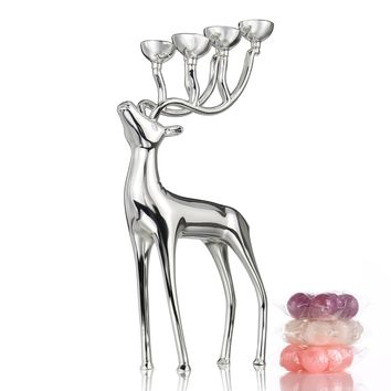 Deer Candle Holders Gold and Silver Color