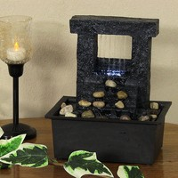 Falling Stream Tabletop Fountain with LED Lights