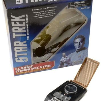 ONETOW William Shatner Signed Autographed Star Trek Classic Communicator Toy (Beckett COA)