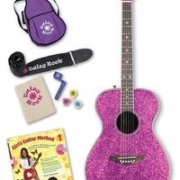 Girl's Daisy Rock 'Pixie' Acoustic Guitar Starter Kit