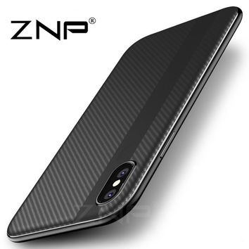 ZNP Luxury PC + TPU Cover Cases For iPhone X Case 10 Durable Protective Phone Case Coque Shell For Apple iPhone X 10 Cases