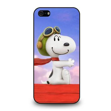 snoopy dog iphone 5 5s se case cover  number 1