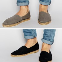 ASOS Canvas Espadrilles 2 Pack SAVE 20%