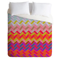 Sharon Turner Geo Chevron Duvet Cover