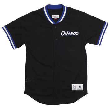 Mitchell & Ness Seasoned Pro Mesh Button Baseball Jersey - Magic