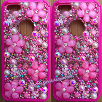 Phone Case -- iPhone 5 S -- Pink Springtime Blossom