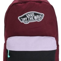Vans Burgundy & Lavender Colorblock Backpack