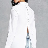 Lace-Up Back Shirt