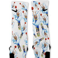 Steph Curry Splash Threes Custom Nike Elite Socks