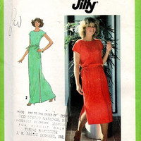 Simplicity 70s Retro Sewing Pattern Midi Maxi Pullover Dress Drawsting Waist Loose Fit Tunic Cover-up Uncut Bust 32