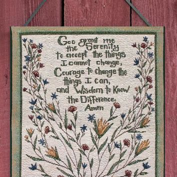 Serenity Prayer Bannerette Tapestry Wall Hanging