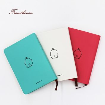 Fromthenon 2017-2018 Cute Kawaii Notebook Cartoon Molang Diary Journal Planner Notepad for Gift Korean Stationery Colorful Inner