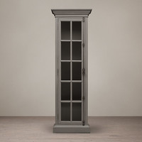 French Casement Narrow Glass Cabinet