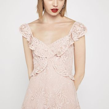 Women's BCBGeneration Ruffled Lace Romper