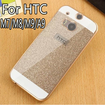 Luxury Bling Case For HTC One M7/M8/M9/A9 Hard Shinning Protective back cover Sparkling cases For HTC One M7/M8/M9/A9 shell