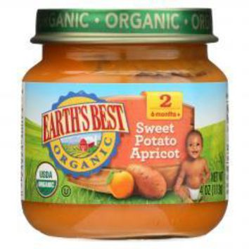 Organic Sweet Potato Apricot Baby Food - Stage 2 - Case of 12 - 4 oz.