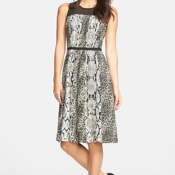 Adrianna Papell Mother of the Bride Short Print Dress
