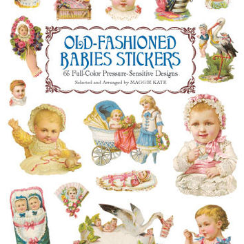 Old Fashioned Victorian Baby Stickers Large Sticker Book