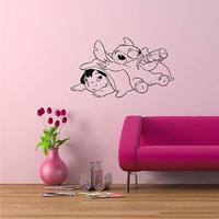 Lilo and Stitch Cartoon Wall Art Sticker Decal D512
