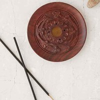 Etched Wood Incense Holder- Brown One