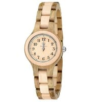 MEKU Women's Wood Watch Handmade Pure Wooden Watch Natural Sandalwood Maple Wristwatch with Gift Box