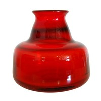 Pre-owned Erik Hoglund Vintage Swedish Red Art Glass Vase II