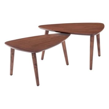 ZUO Modern Koah Nesting Coffee Tables 100671 Living Side Table