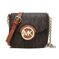 ICIKU62 Michael Kors MK Leather Chain Crossbody Shoulder Bag Satchel