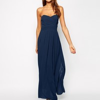 TFNC Maxi Dress With Pleated Bust