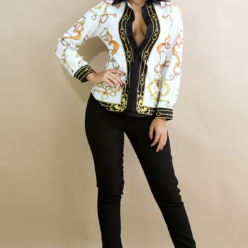 c6b7738d024 Best Chain Printed Blouse Products on Wanelo