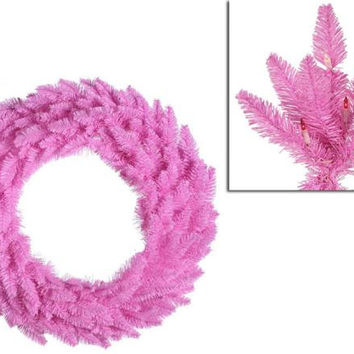 "Artificial Christmas Wreath - 36 ""  - Pink"