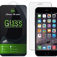 [2- Pack] iPhone 6 Plus Glass Screen Protector, Dmax Armor® [Tempered Glass] Ballistics Glass, 99% Touch-screen Accurate, Anti-Scratch, Anti-Fingerprint, Bubble Free, [0.3mm] - Retail Packaging
