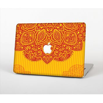 The Gold & Red Abstract Seamless Pattern Skin Set for the Apple MacBook Air 13""