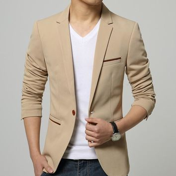 Mens Slim Fit Suit Jacket Blazer
