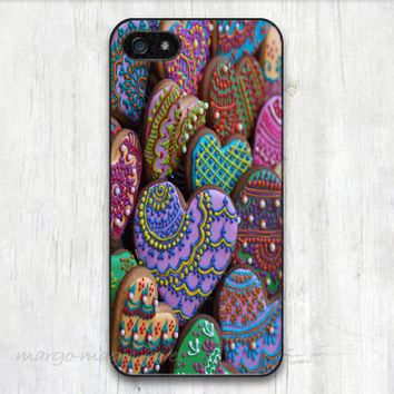 cover case fits iPhone models, unique mobile accessories,cookie, hearts